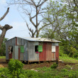 Zinc sheet metal house Corn Island Nicaragua Central America — Stock Photo