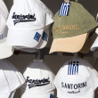 Souvenir hats sale display Santorini — Stock Photo #23059634