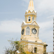 Clock tower the wall walled city Cartagena Colombia South America — Stock Photo