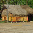 Thatch roof restaurant bar Corn Island Nicaragua — Stock Photo