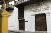 Entry museum Bolivar Park Cartagena Colombia — Stock Photo