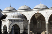 Domes blue mosque Istanbul Turkey — Stock Photo