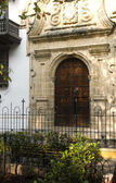 Entry Palace of the Inquisition Museum Historical of Cartagena d — Stock Photo