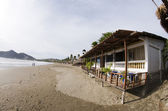 Typical beachfront restaurant san juan del sur nicaragua — Stock Photo
