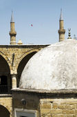 Historic dome with mosque minarets lefkosia cyprus — Stock Photo
