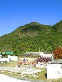 Historic cemetery Soufriere St. Lucia — Stock Photo