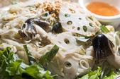 Vietnamese food bun xao stir fried rice noodles with vegetables — Stock Photo