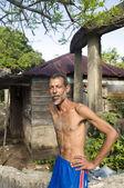 Milho de retrato do homem nativo ilha nicarágua — Fotografia Stock