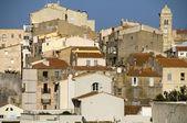 Medieval architecture citadel bonifacio corsica — Stock Photo