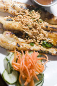 Vietnamese food appetizer ga nuong sate grilled chicken — Stock Photo