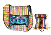 Variety shoulder bag change purse made in Nicaragua — Stock Photo