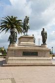 Statue Napoleon and his brothers Diamant Square Ajaccio Corsica — Stock Photo
