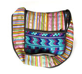Shoulder bag woven textile made in Nicaragua — Stock Photo