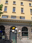 Post office building ajaccio corsica france — Stock Photo