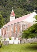 Stone church architecture Saba Dutch Netherlands Antilles — Stock Photo