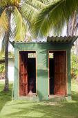 Outdoor toilets big corn island farm nicaragua — Stock Photo