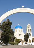 Church cathedral oia santorini greek islands — Stock Photo
