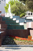 Tile stairway garden Hippodrome Park Blue Mosque Istanbul Turkey — Stock Photo