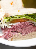 Deli combination sandwich corned — Stock Photo