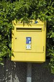 Common post office box France ajaccio corsica — Stock Photo