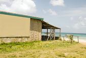 Bamboo building Caribbean Sea Brig Bay Corn Island Nicaragua — Stock Photo
