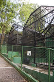 Old zoo cages Emperor Valley Zoo Trinidad Port of Spain — Stock Photo