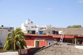 Rooftop view town architecture San Andres Island Colombia — Stock Photo