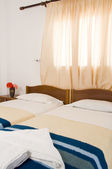 Greek Island guest house room interior Ios Cyclades Greece — Stock Photo