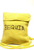 Knitted change purse bag souvenir of bequia island st. vincent — Stock Photo