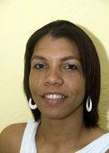 肖像微笑本机克里奥尔黑女人尼加拉瓜玉米岛 — 图库照片