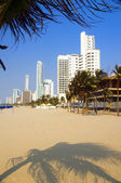 High rise buildings Bocagrande beach Cartagena Colombia South America — Stockfoto