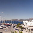 Adamas Milos Greek Island harbor view — Stock Photo