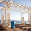 Gazebo shade structure seafront promenade de Anglais Nice France — Stock Photo #23084856