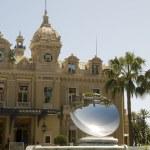 Famous cafe casino entrance and garden Monte Carlo Monaco — Stock Photo #23084946
