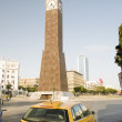 Clock Tower ave Habib Bourguiba Ville Nouvelle Tunis Tunisia Africa - Stock Photo