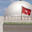 Stock Photo: Landmark large silver dome mosque and flag Sousse TunisiAfrica