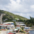 Town harbor dock port view typical Caribbean house architecture — Stock Photo #23085146