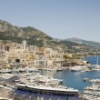 Panorama Monte Carlo harbor Monaco — Stock Photo