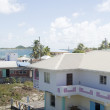 Town harbor dock port view typical Caribbean house architecture — Stock Photo #23085484