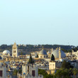 Rooftop Jerusalem Palestine Israel architecture with mosque temples churches — Stock Photo