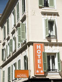 Typical French hotel architecture Nice France — Stock Photo
