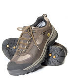 All terrain cross training hiking lightweight shoes — Stock Photo
