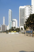 High rise buildings Bocagrande beach Cartagena Colombia South — Stockfoto