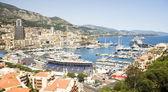 Monaco Grand Prix harbor — Stock Photo