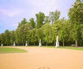 Row of statues in park at New Palace Sanssoucia park Potsdam Germany — Stock Photo