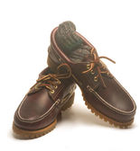 Casual rugged mocassin style men leather shoes — Stock Photo