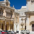Plaza san paul and st. paul's cathedral mdina malta — Стоковая фотография