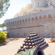 Cannon and cannonballs The Prince's Palace of Monaco — Stock Photo