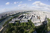 Bird's eye view of paris france and the seine river — Stock Photo