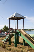 Children's park slide Brig Bay Corn Island — Stock Photo